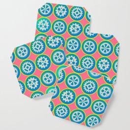 Gearwheels pattern Coaster