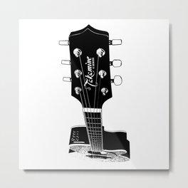Takamine Electroacoustic Guitar - Music - Rock, Blues, Folk, Jazz Metal Print