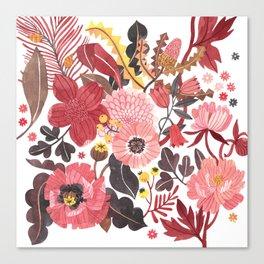 Warm Botanicals Canvas Print