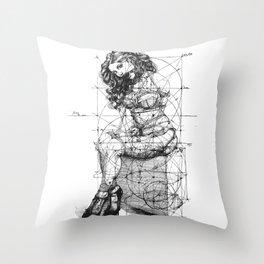 Brave Lady. ©Yury Fadeev Throw Pillow