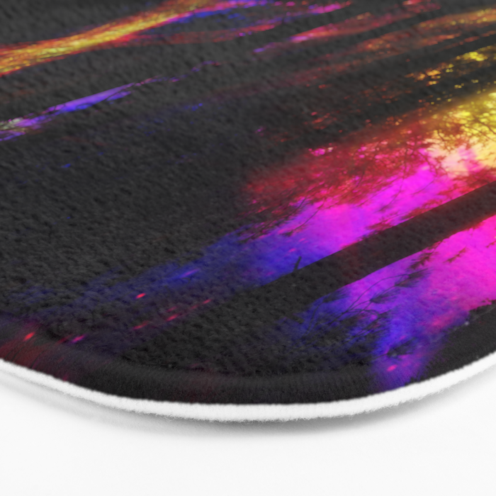 close your eyes and dream with me Bath Mat