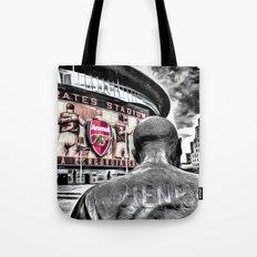 Thierry Henry Statue Emirates Stadium Art Tote Bag