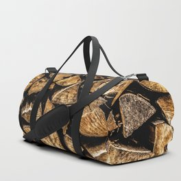 Camp Fire Wood Duffle Bag