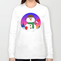 snowman Long Sleeve T-shirts featuring SnowMan by tuditees