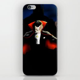 Dracula vampyre halloween iPhone Skin