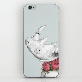 White Rhino with Proteas iPhone Skin
