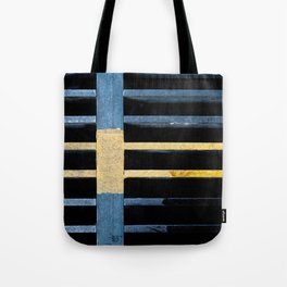 Sewer Grate Abstract Lines Tote Bag
