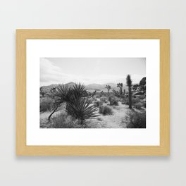 The Place to be in Joshua Tree Framed Art Print