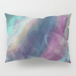 Purple, Blue, Spiral Geode Pillow Sham