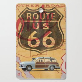 Route 66 Vintage Travel Poster Cutting Board
