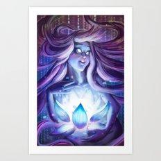 Pixel Lotus Art Print