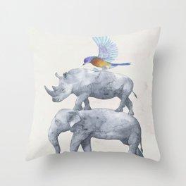 African Wildlife Throw Pillow