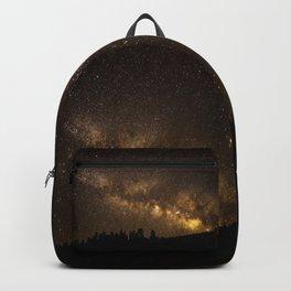 Above the Horizon - Milky Way Galaxy Above Treeline in Colorado Backpack