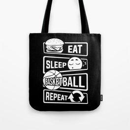 Eat Sleep Basketball Repeat - B-Ball Team Dunk Tote Bag