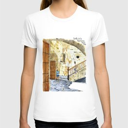 Woman Enjoying the Sun - Castillo de la Real Fuerza, Habana Vieja, Cuba T-shirt