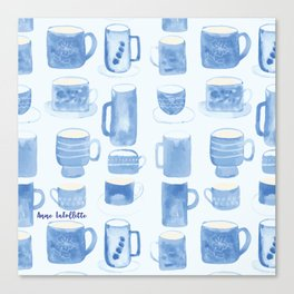 Blue coffee cups Canvas Print