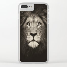 Mr. Lion King Clear iPhone Case