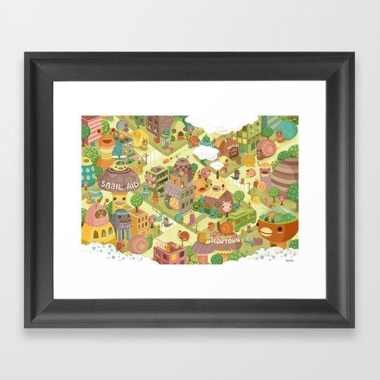 Slowtown Framed Art Print