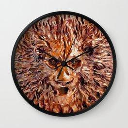 Golden Leo Wall Clock