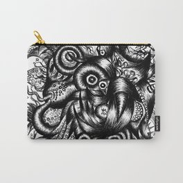 Spaceship Girl_Black Carry-All Pouch