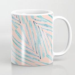 Palm Leaves Coral Coffee Mug