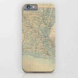 Vintage Map of Louisiana (1896) iPhone Case