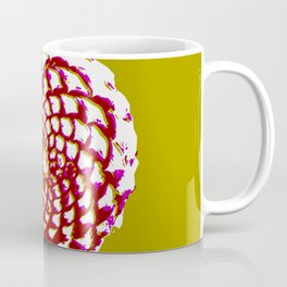 pine cone in olive green, purple and burgandy Coffee Mug