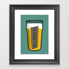 The Golden Mile Framed Art Print