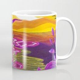 Floral Beach, Bright Floral Beach, Abstract Floral Ocean Coffee Mug
