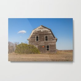 Barn House, Wells County, North Dakota 6 Metal Print