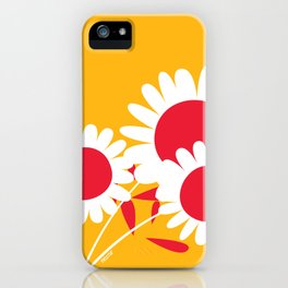 Flowers on Yellow by Friztin iPhone Case