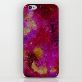 Galaxy in fire colours iPhone Skin