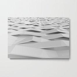 White plastic waves Metal Print
