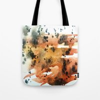 montana Tote Bags featuring montana agate by HiddenStash Art