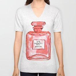perfume red Unisex V-Neck
