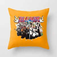 bleach Throw Pillows featuring TOGETHER BLEACH by feimyconcepts05