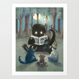 Reading Circle (option) Art Print