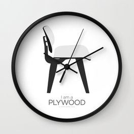 Chairs - A tribute to seats: I'm a Plywood (poster) Wall Clock