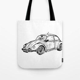 Beetle Lino Print Tote Bag