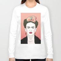frida Long Sleeve T-shirts featuring Frida by Amanda Corbett