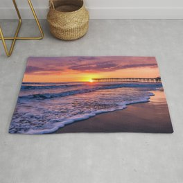 Sunset & Foamy Wave Rug