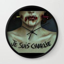 Protest song II: #JESUISCHARLIEHEBDO Wall Clock