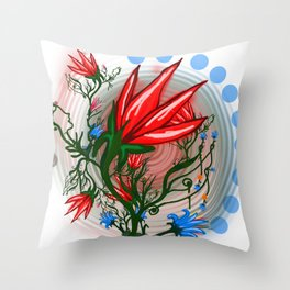 Red Dwarf Plant Throw Pillow