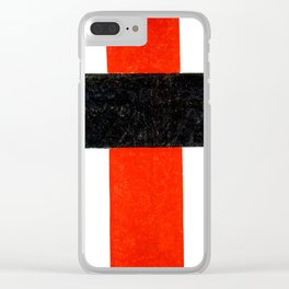 Kazimir Malevich - Hieratic Suprematist Cross (new editing) Clear iPhone Case