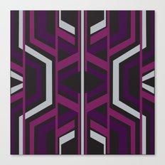 Art Deco Traveller In Purple Canvas Print
