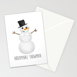 Abdominal Snowman Stationery Cards