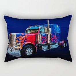 Optimus Prime Blue Rectangular Pillow