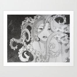 Octopus Snare Art Print