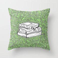 Book Drawing Meditation (digital)  Throw Pillow