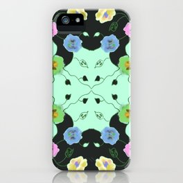 Coal and Mint iPhone Case